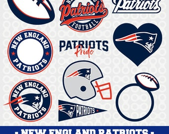 New England Patriots logos in SVG / Eps / Dxf / Jpg / Pdf / Png files INSTANT DOWNLOAD!