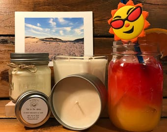 Peach / Orange / Cranberry Candle   Summer Candle   Cocktail Candle   Soy Wax Candle   Mason Jar Candle   Fun In The Dunes Scent