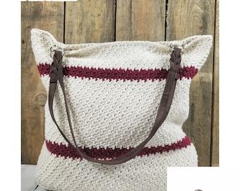 CROCHET PATTERN | Summer Tote Crochet Pattern | Beach Bag Crochet Pattern | Reusable Market Bag Crochet Pattern | Large Tote Crochet Pattern
