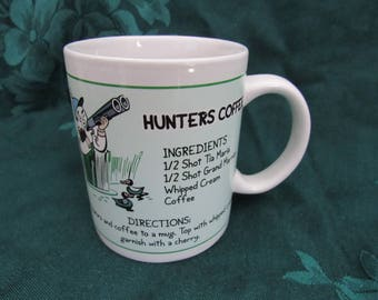 Vintage  Hunter's Coffee Recipe Mug