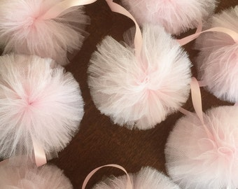 Tulle pom pom garlad Tulle Pom Pom Wedding, Party Decoration. Tutu Garland,baby shower