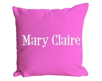 Monogrammed Canvas Pillow - Name Design