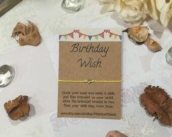 Birthday Wish Bracelet, Birthday Bracelet, Birthday Wish, Birthday Jewelry, Happy Birthday, Gift for Her, Friendship Bracelet, Birthday Gift