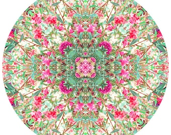 Mandala Art, Meditation Art, New Age Wall Decor,  Circle Art, Flower  Mandala Print, Zen Art, Flower Wall Decor