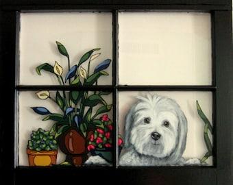Havanese, Acrylic Painting, Dog Window, Custom Pet Portrait, Wall  Hanging, Pet Rememberance, Loss of Dog, Animal Art, Pet Decor, Memorial
