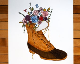 Bean Boots in Bloom