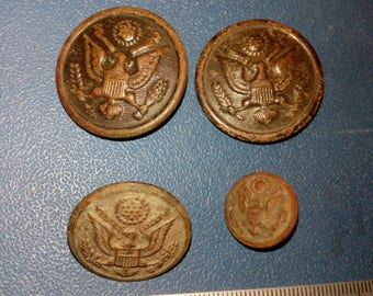 Old military buttons of the US WWI