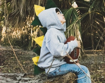 Kids dinosaur hoodie / boy dinosaur birthday party / green dinosaur / toddler dinosaur costume / dino hoodie / dinosaur birthday gift