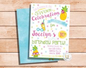 Luau Pineapple Party Invitation