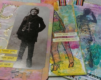 Ephemera Pack - Altered Tags & Booklet