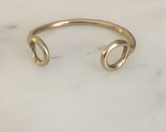 Brass cuf, brass bracelet, simple brass cuff