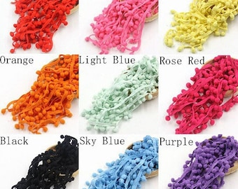 98cm of Ribbon fringe spirit PomPoms 4 colors to choose from; 10mm wide