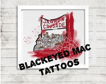 Jarrow crusade abstract painting tattoo art