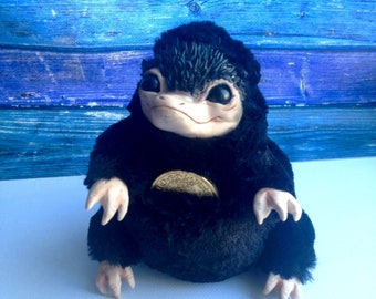 Niffler, fantastic beasts, stuffed niffler, fantastic beasts niffler STUFFED CUTE CREATION Ooak Fantasy Creature Doll Art Sculpture Ooak