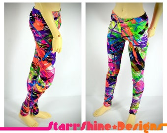 BJD SD13 1/3 Doll Clothing - Shimmer Abstract Print Leggings