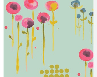 HAIKU by Monaluna - Poem Sage - Organic Fabric (0.25m)