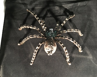 Upcycled tarantula spider sculpture