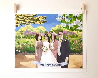 Custom family portrait / Custom family painting