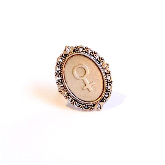 Feminist Symbol Ring Feminist Jewelry Frame Ring Girl Gang
