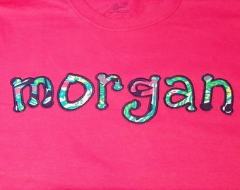 Monogram Shirt, Embroidered School Shirts, Monogrammed Shirt, Appliqued University Shirt, School Shirt