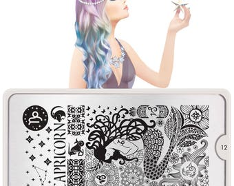 MoYou-London Nail Stamping Plate Zodiac Mix & Match Collections CLEARANCE LIMITED TIME