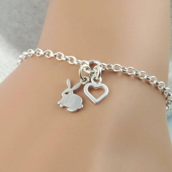 Sterling Silver Chain Bracelet Bunney KIsyfGwe