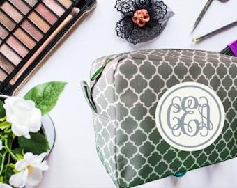 Mother's Day Gift, Cosmetic Bag, Makeup Bag, Personalize Makeup Bag, Bridesmaid Gift, Wedding Party Gift, Monogram Makeup Bag,