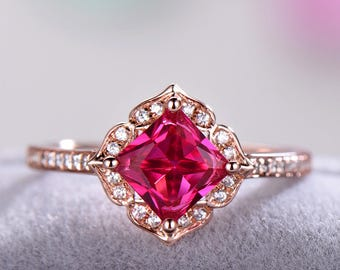 ruby diamond amp art engagement antique deco victorian gold ring rings cluster