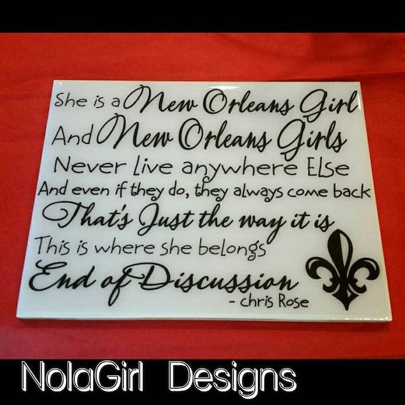 New Orleans Girl Quote Nola Ceramic Tilenew Orleans Quote