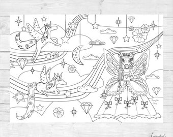 Princess coloring page A1 size