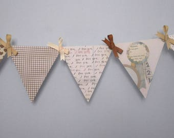 Paper Pennant Banner Decoration for Chic Gender Neutral Nursery or Baby Shower