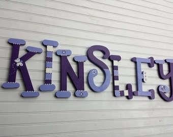 Nursery Letters - Kids Name Letters - Name Wall Letters - Girl Name Letters - Whimsical Font