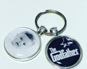 Godfather photo keyring, Godfather photo keychain,  godfather personalised gift, Godfather photo gift, The Godfather keyring