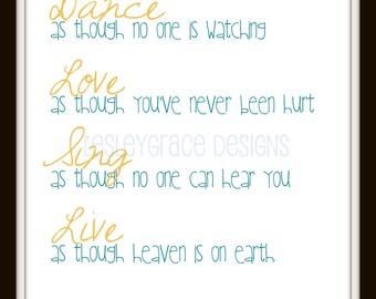 Typography, Souza Quote, 11x14, digital print