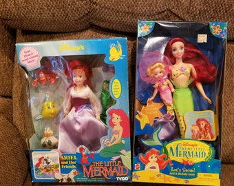 Vintage The Little Mermaid Dolls new in box