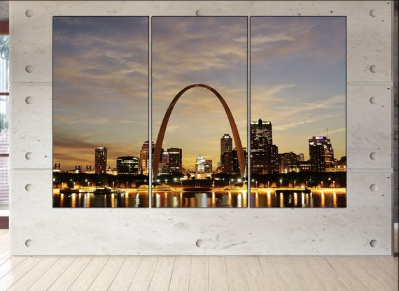 St Louis Skyline canvas  skyline St Louis Skyline canvas art St Louis Skyline wall decoration St Louis Skyline large canvas