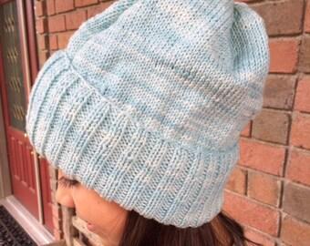 Women's Hand-Knit Oversized Merino Wool Hat