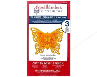 Spellbinders Shapeabilities NESTED BUTTERFLIES TWO S4-320