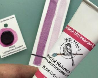 Watercolor Handmade Tube Paint Rosefinch Ultramarine Rose 1.5 oz(44 ml)