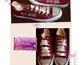 Customized Embroidered Converse with or without bling