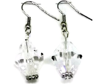 Clear and Silver Chunky Drops