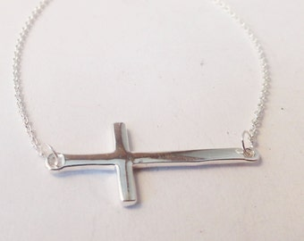 Cross Necklace - In Sterling Silver,  N0097