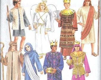 Simplicity 8152 Mens And Teen Boys Nativity Christmas Costume Sewing Pattern Size XS, S, M L, XL Angel Shepherd Kings Wise Men