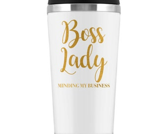 Boss Lady Travel Tumbler | Boss Lady Travel Mug | Girl Boss | Boss Lady Cup