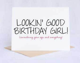 Birthday Card | Funny Birthday Card | Birthday Card Friend | Birthday Card Funny | Funny Card Friend | Funny Greeting Cards | Card For Her