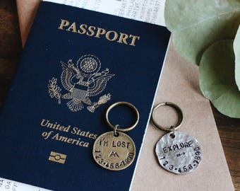 Custom Luggage Tag, Personalized Luggage Tag, Bag Tag, Travel Accessory, Backpack Tag, Graduation Gift, Monogram Tag, Travel Tag, Stamped