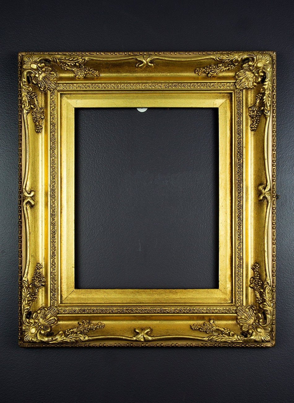 Vintage Wooden Frame Antique Gold Frame Ornate Picture Frame Wood ...