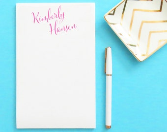 Personalized Notepad with Calligraphy, Personalized notepad, Writing pad, Personalized Writing Paper, Stationery Paper, Custom Notepad,NP012