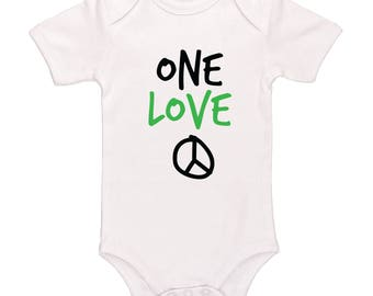 One Love Baby Bodysuit - Cute Rasta Baby Clothing For Baby Boys And Baby Girls, Adorable One-Piece Outfit