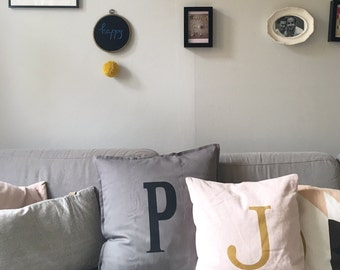 Two pillows for lovers.... newly married... Siblings... thick friends... Anniversaries... Family. Choice of letters by customer. Individual